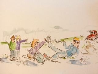 Cartoon people - emergency repairs