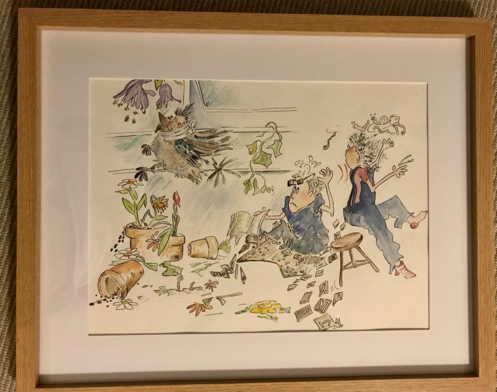Watercolour in a frame