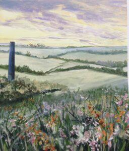 Acrylics by Ann Force Cornwall scene