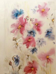 Watercolour flowers by Ann Force