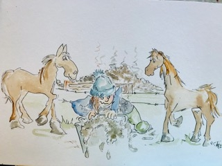 cartoon animals with horses