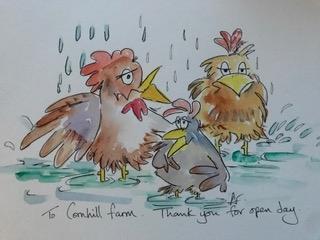 cartoon animals cornhill farm open day